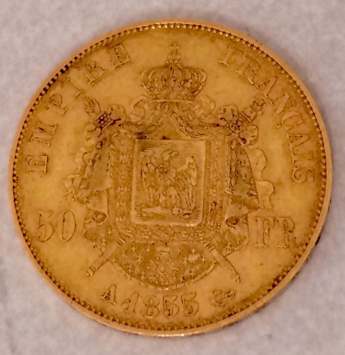 France - 50 Francs 1855-A Napoleon III - Gold