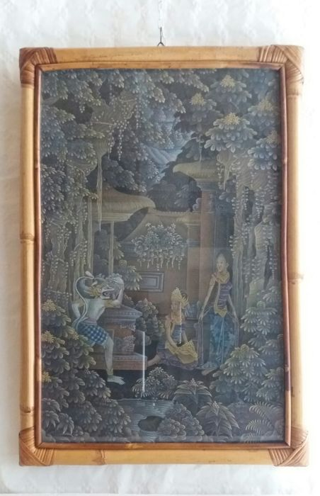 Canvas painting - Bali, Indonesia - Second half of 20th century