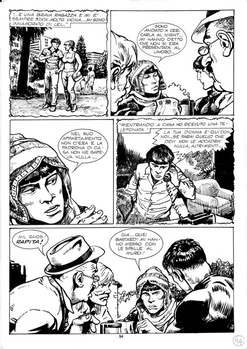 Mister No #223 - Gino Pallotti - 2x original pages - Loose page - First edition - (1993)