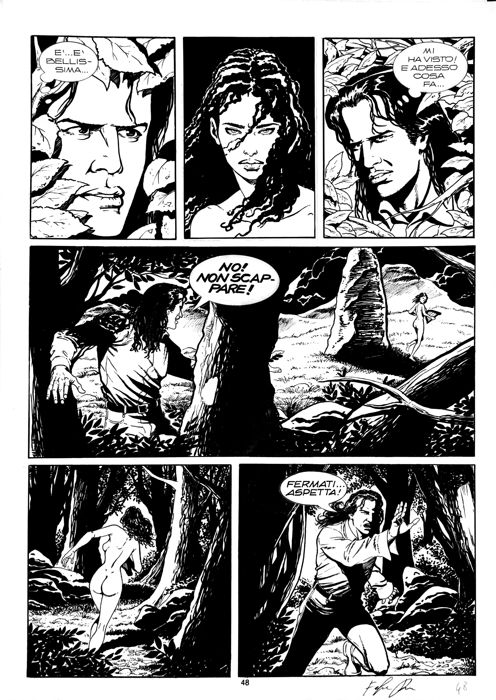 Robinson Hart - Zona X #16 - Fabrizio Russo - 2x original pages - Loose page - First edition - (1996)