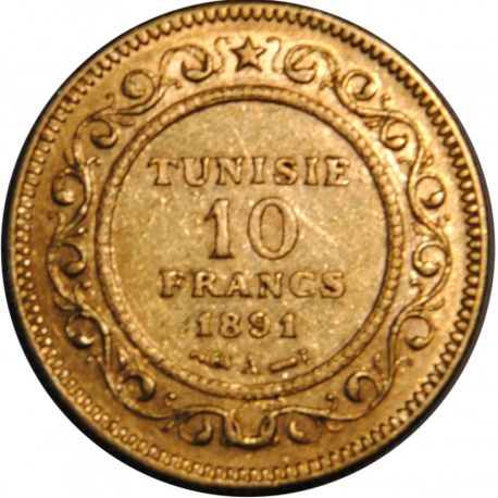 Tunisie - 10 Francs 1891-A - Or