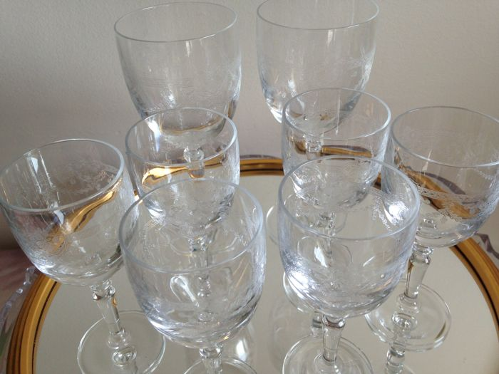 Cristal Darques Verres.Cristal D Arques 8 Glasses Model Dampierre Crystal Catawiki