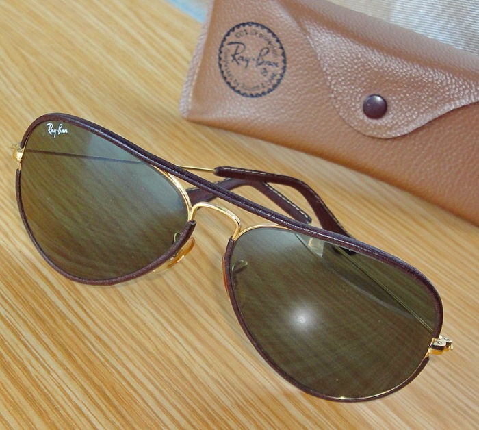 681ca5eef7 Ray-Ban - Bausch   Lomb Leathers Aviator Arista 58-14 Sunglasses ...