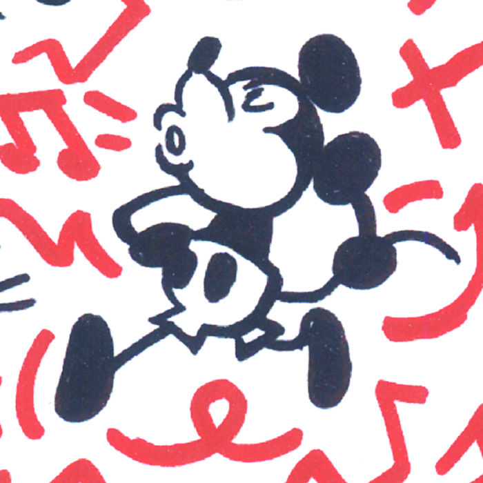 Mickey Mouse inspired by Keith Haring - Lithography - Tony Hand ...