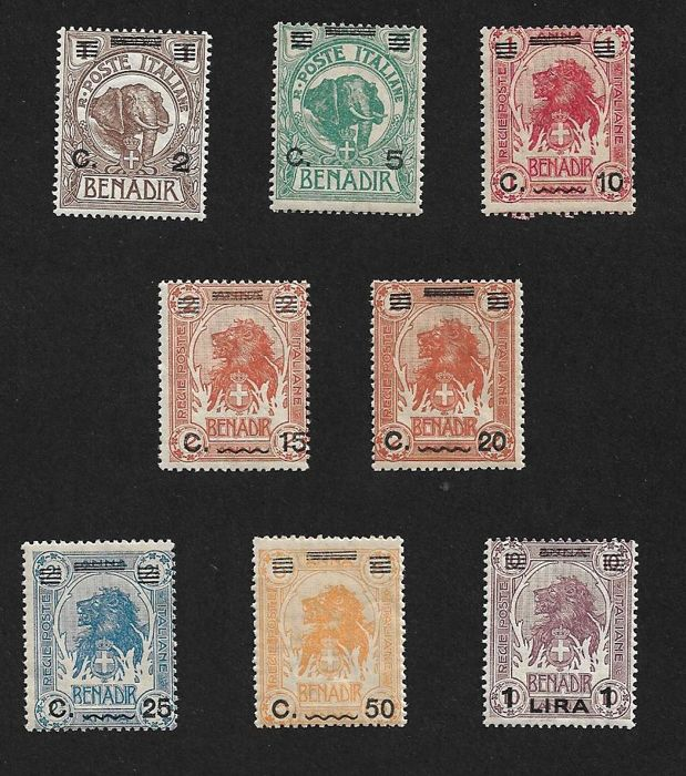 Italy - Somalia complete overprint set mint with intact gum - Sassone N° S. 17