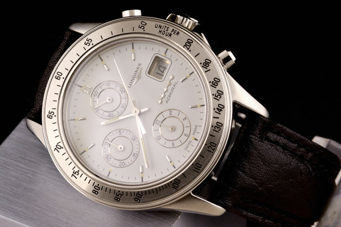 Longines - Admiral Chronograph Automatic White Dial -  L3 601 4 - Heren - 1990-1999