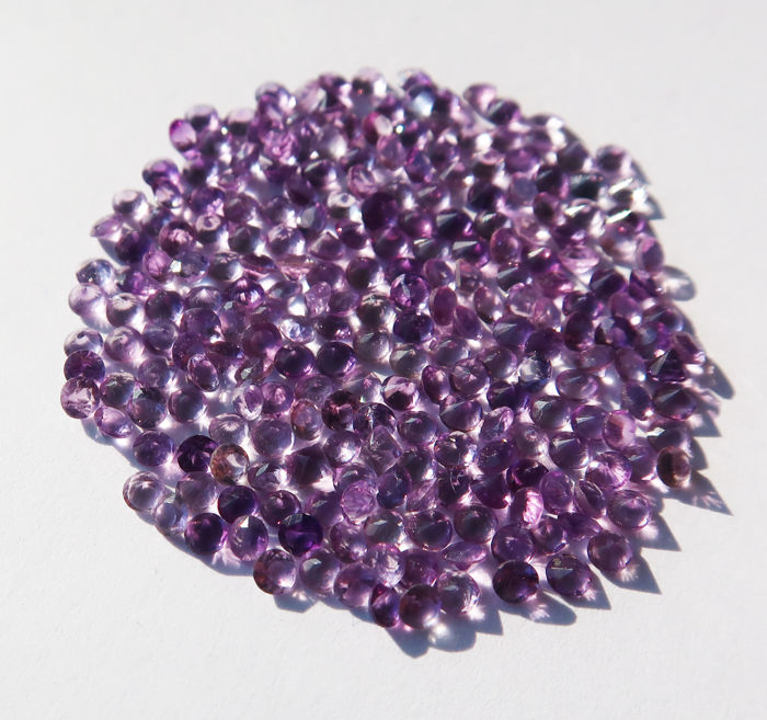 230 Donkerviolet, Lichtpaars Amethist - 8.90 ct