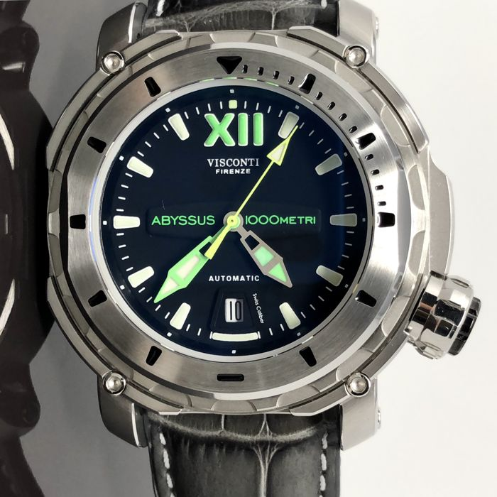 "Visconti - Abyssus Full Dive 1000 Inox Croco ""NO RESERVE PRICE"" - KW51-01 - Heren - NEW"