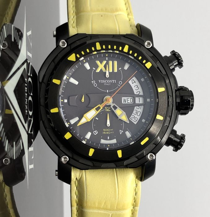 Visconti - Full Dive 500 Chrono Gun Yellow  - KW51-05 - Men - NEW