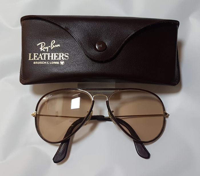 bafc22a921a Bausch and Lomb Ray Ban USA - Aviator Leather Changeable ...