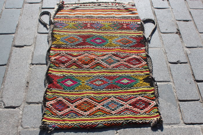 Hand Made Turkish Nomadic Grain Sack, Chuval - 117 cm - 70 cm
