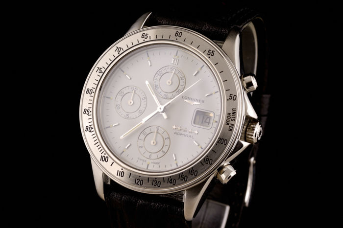 Longines - Admiral Chronograph Automatic White Dial -  L3 601 4 - Hombre - 1990-1999