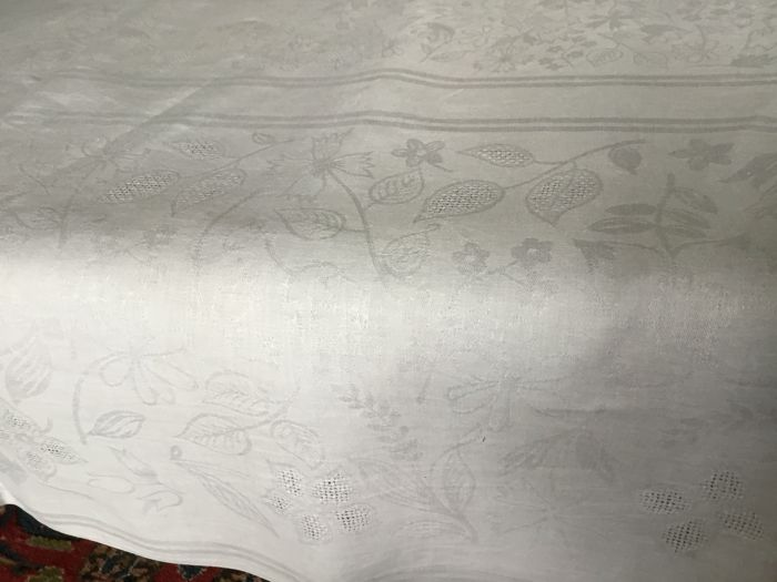Damask table linen - Linen - Early 20th Century & Damask table linen - Linen - Early 20th Century - Catawiki