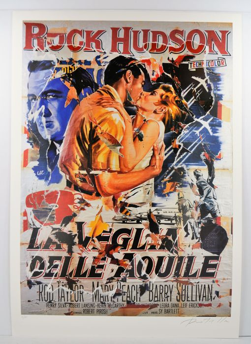 Mimmo Rotella - La Veglia delle Aquile (A Gathering of Eagles)