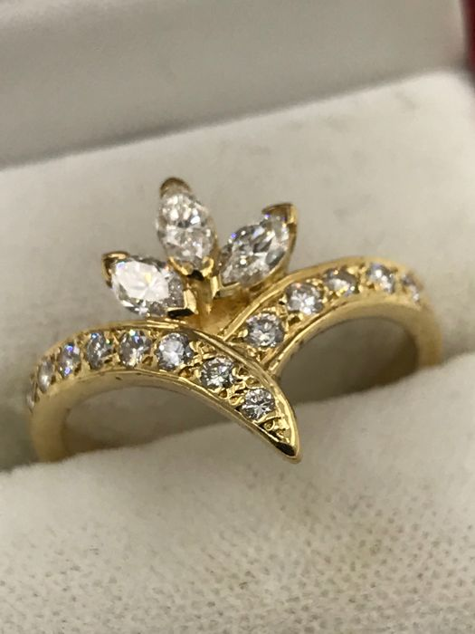 18 karaat - Ring Diamant - Diamant