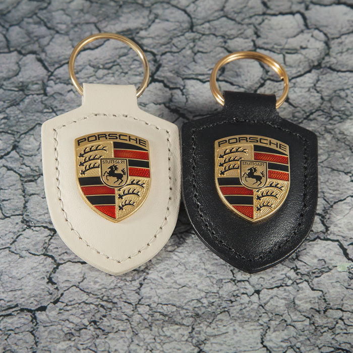 Kleding - Porsche Black & White Leather Keychain / Keyring  - 2018-2018 (2 items)