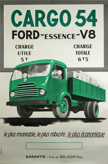 Anonymous - Cargo 54 Ford *Essence* V8 - 1950-tallet