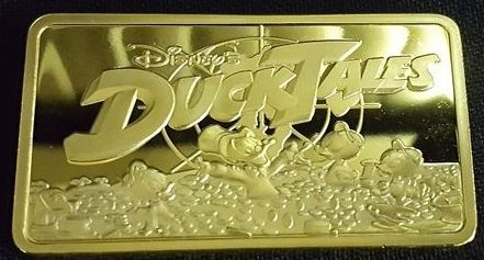 Walt Disney Ducktales 30 gram - Plated Gold bar .999 (24 karaat) - Seal