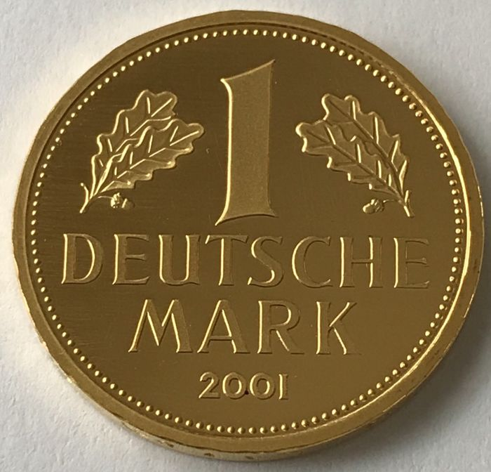 Germany - 1 Mark 2001 - F (Goldmark) - Gold