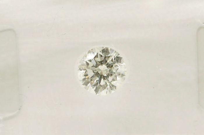 Diamant - 0.50 ct - Briljant - F - SI2, Zuiverheid behandeld