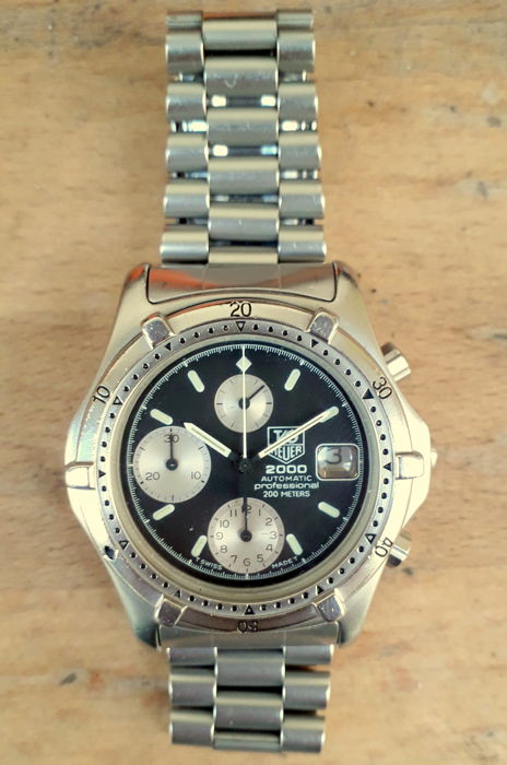 TAG Heuer - 2000 Series Chronograph - Ref. 162.006 - Heren - 1980-1989