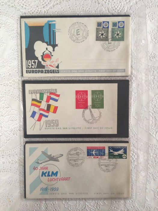 Netherlands 1957/1963 - Selection of FDCs between NVPH E32 and E60