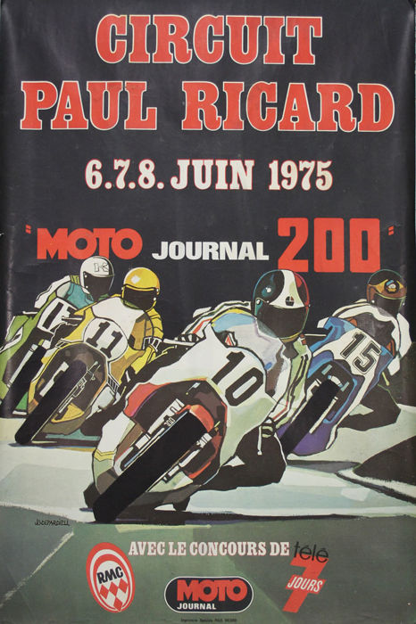 J D. Depardieu - Circuit Paul Ricard - Moto journal - 1975