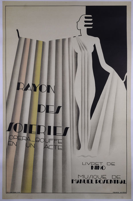 Maurice Dufrene - Rayon des Soieries - Originele grote litho poster 1930