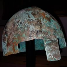 Sassanid Persia Bronze Early Middle Ages helmet - 16×24×19 cm - (1)