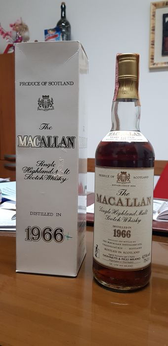 Macallan 1966 18 years old - 75cl - 1 bottiglie