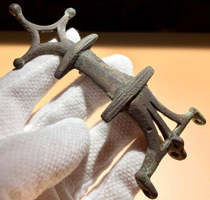 Gothic Bronze Large Excellent Brooch/Fibula with ...