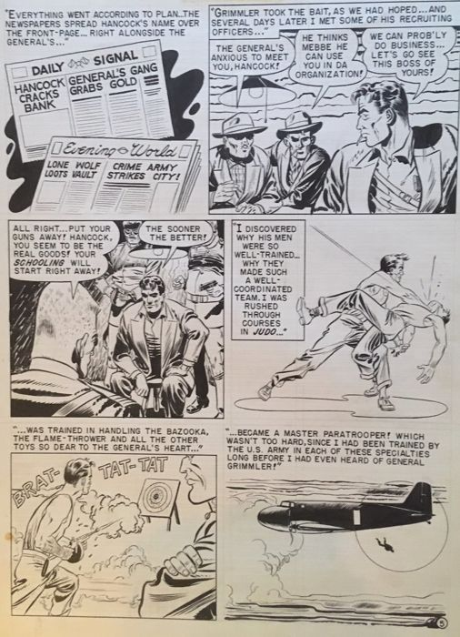 "Crime Patrol 7 - Johnny Craig - Originele ""Crime Patrol"" pagina - Loose page - Original Art (1948)"