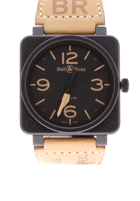 Bell & Ross - BR01-92-HERITAGE Black Dial Tan Leather - BR0192-HERITAGE - Unisex - 2018