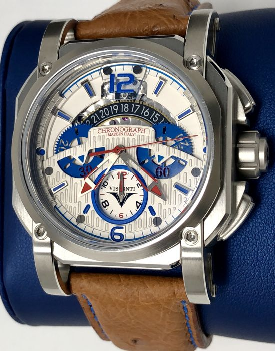 Visconti - Automatic 2Squared Chronograph Speedboat White and Blue Dial 35/99 - KW35-02  - Hombre - NEW