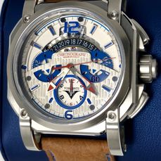 Visconti - Automatic 2Squared Chronograph Speedboat White and Blue Dial 35/99 - KW35-02  - Heren - NEW