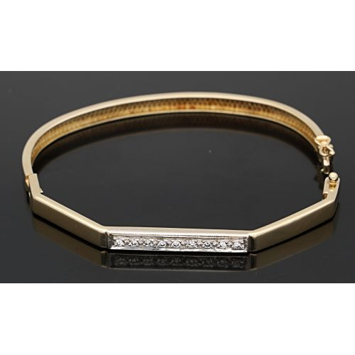 18 quilates Oro - Brazalete Diamante