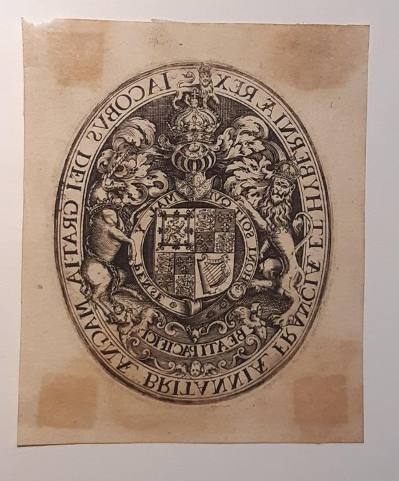 Simon de Passe (1595-1647) - Coat of arms of King James I of England