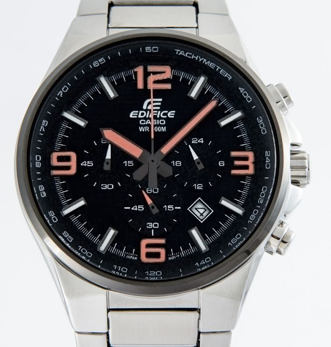 Casio - Men's black dial chronograph 44mm with Tachymeter - EFR-515D-1A4VEF  - Homme - 2011-aujourd'hui