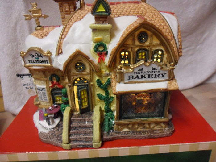 lemax - lemax - bakery, christmas village lemax - christmas village, lemax bakery of 1 - Porcelain