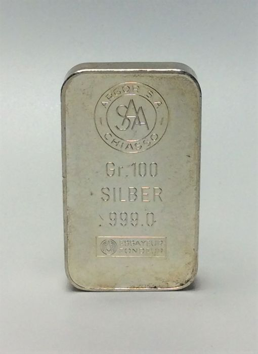 Argor S.A. Chiasso - 100 grams - 999/1000 - Minted silver bar