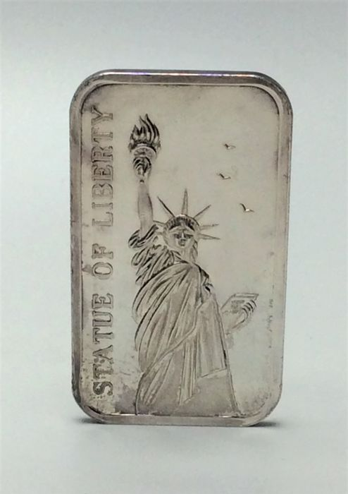 Madison Mint - One ounce - 999/1000 - Minted silver bar - STATUE OF LIBERTY