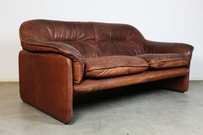 De Sede - Vintage leather lounge sofa - Catawiki