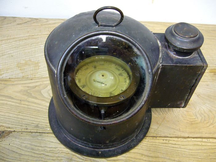 Marine Compass in Copper Compass House - Copper - Late 1800 / early 1900
