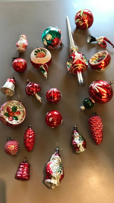 Antique Christmas balls - Complete collection - Glass