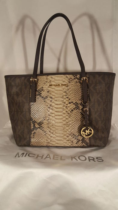 Michael Kors Jet Set Center Stripe Travel Tote Schoudertas
