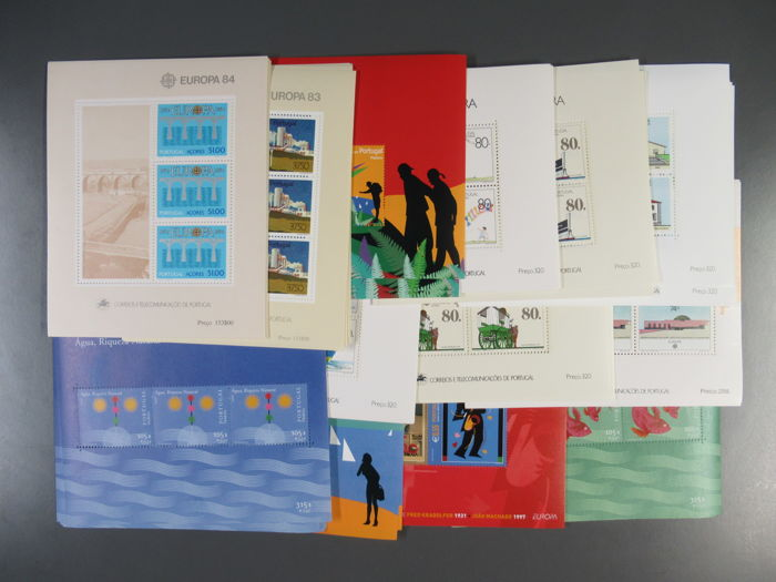 Azores and Madeira - Lot of 13 different block sets of 10 each