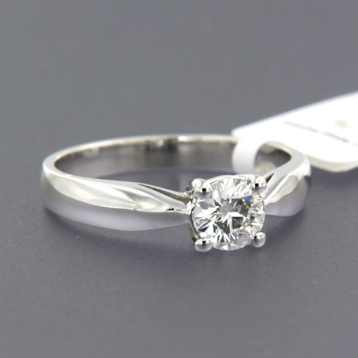 14 karaat Witgoud - Ring - 0.50 ct Diamant