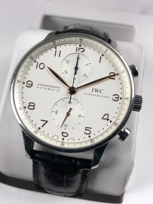 IWC - Portuguese Chronograph Automatic - IW371401 - Heren - 2000-2010
