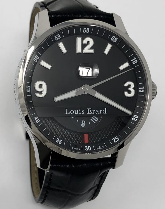 "Louis Erard - 1931 Dual Time Automatic Watch Black ""NO RESERVE PRICE"" - 82224AA02.BDC51 - Heren - NEW"
