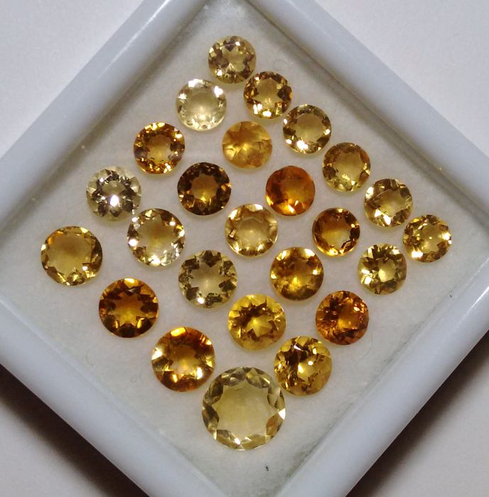 25 pcs Gold-gelb Citrin - 8.42 ct